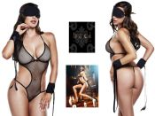 Baci Lingerie [ UK 8 - 14 ] Sensual Sheer Body Outfit (E25240)